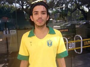 Ruan Martins, ferido por cinzeiro no Rio (Foto: Cristiane Cardoso/G1)