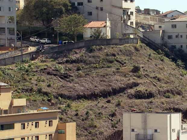 Morro Santa Cruz pode ser afetado por construções em Poços de Caldas (Foto: Marcelo Rodrigues/ Reprodução EPTV)