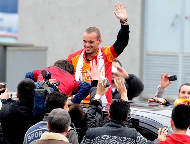 Wesley Sneijder galatasaray (Foto: Agência AFP)
