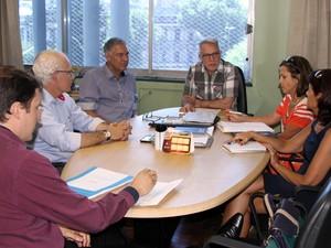 Reunião Hospital Parque Belém Porto Alegre (Foto: Natália Mingotti/Divulgação PMPA)