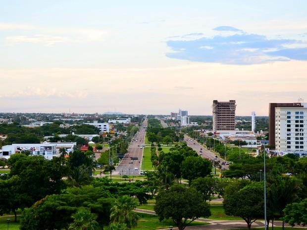 Avenida Theotônio Segurado - Palmas (Foto: Clóvis Cruvinel/Divulgação)