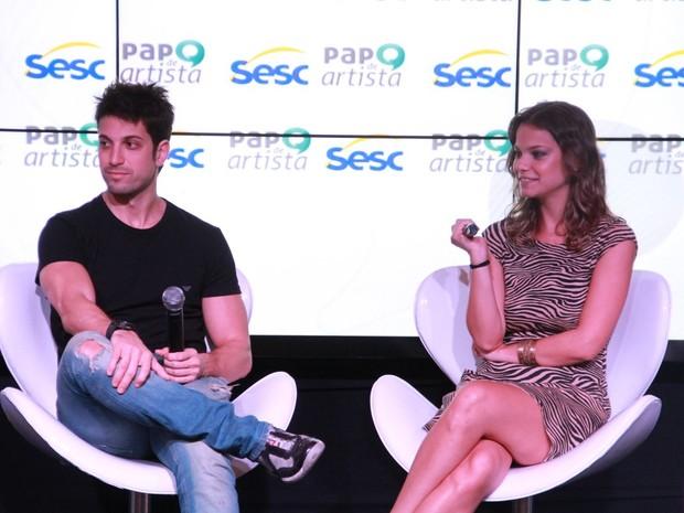 Marco Antônio Gimenez e Milena Toscano em entrevista em Angra dos Reis, no Rio (Foto: Thyago Andrade/ Foto Rio News)