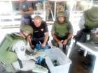 Droga é encontrada escondida em barco em Tabatinga, no Amazonas