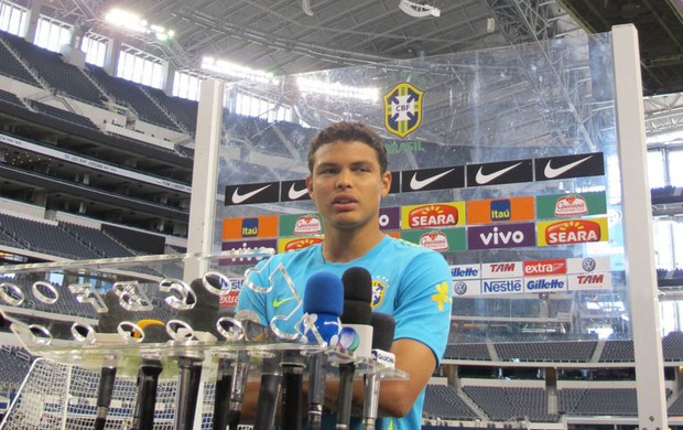 thiago silva brasil sele&#231;&#227;o brasileira cowboys stadium (Foto: Marcio Iannacca/Globoesporte.com)
