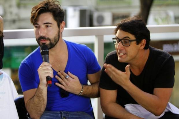 Sandro Pedroso e Bruno de Luca (Foto: Marcos Ferreira/Brazil News)