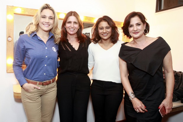 Fernanda Gentil, Malu Mader, Flávio Canto, Dira Paes e Mônica Waldvogel (Foto: Anderson Barros / EGO)