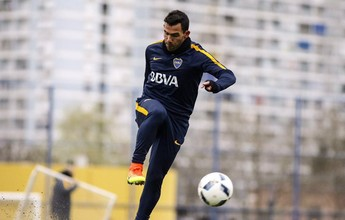 Tevez volta a treinar com o Boca  Juniors após quatro dias de licença