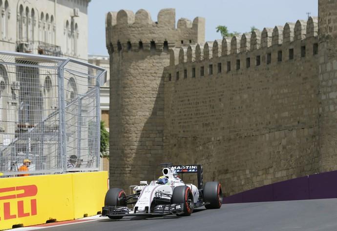 Felipe Massa faz 5º tempo no treino classificatório para o GP da Europa, em Baku (Foto: EFE)