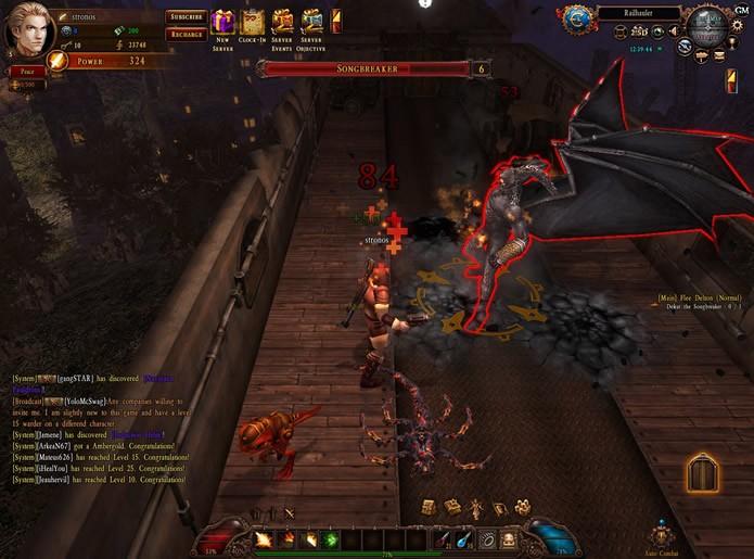Os duelos contra outros jogadores e os combates contra os chefões de City of Steam: Arkadia são bastante empolgantes (Foto: Reprodução/Daniel Ribeiro)