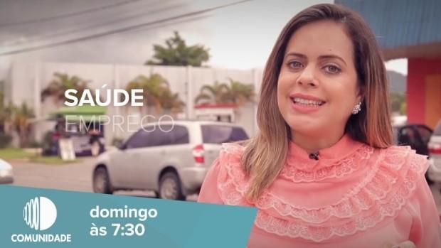 A apresentadora, Mirielly de Castro, explica a mudança (Foto: Reprodução / TV Diário)
