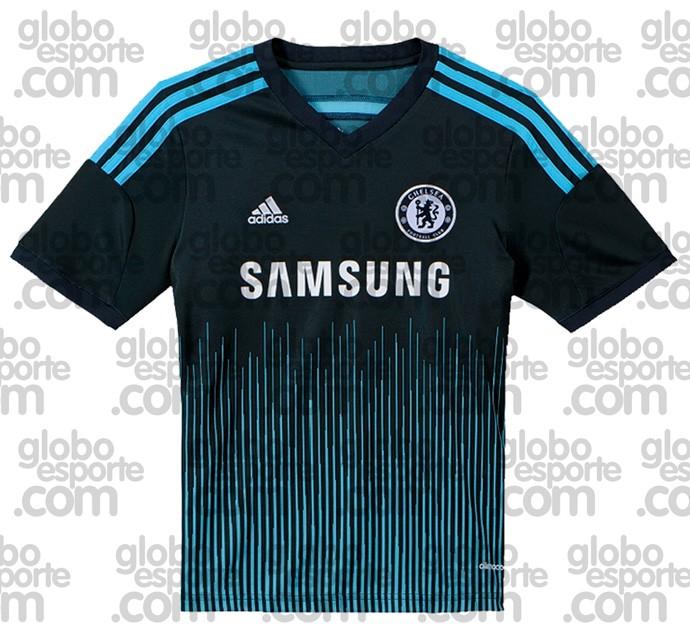 5dfa8a81b5 Chelsea terá terceira camisa em dois tons de azul na próxima ...