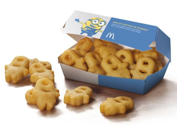 Batatas Minions serão oferecidas em porção com 20 unidades  (Foto: Divulgação)