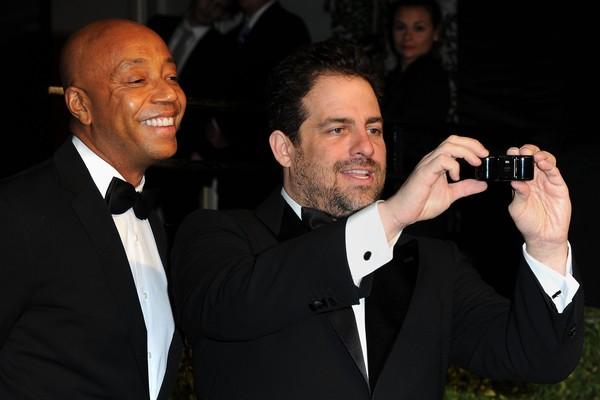 O empresário Russell Simmons e o cineasta Brett Ratner (Foto: Getty Images)