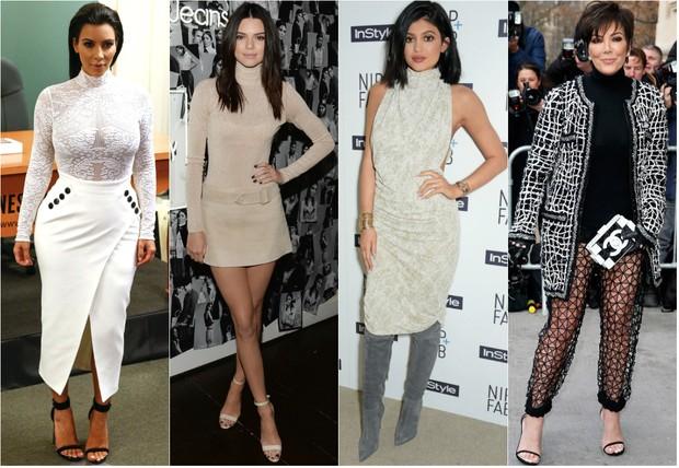 Gola rolê - Kim Kardashian, Kendall Jenner, Kylie Jenner e Kris Jenner (Foto: Reuters | Getty Images)
