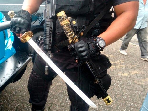 Material foi encontrado na casa do suspeito (Foto: Divulgação/ PM)