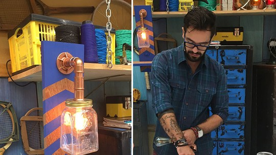 Aprenda a fazer uma luminária para banheiro com pote de conserva