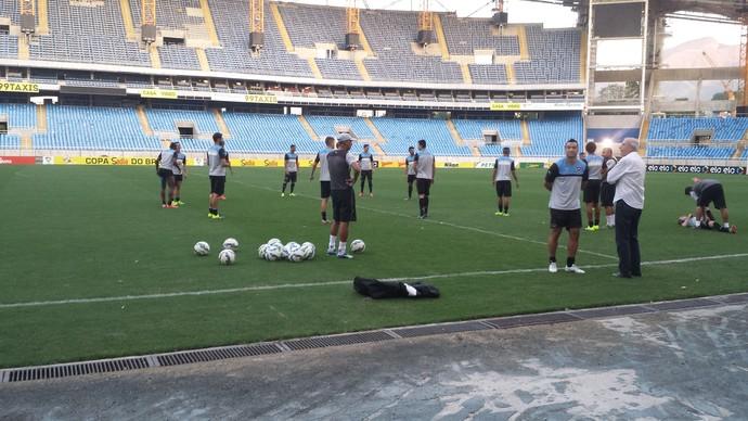 Botafogo treino Engenhão (Foto: Chandy Teixeira / GloboEsporte.com)