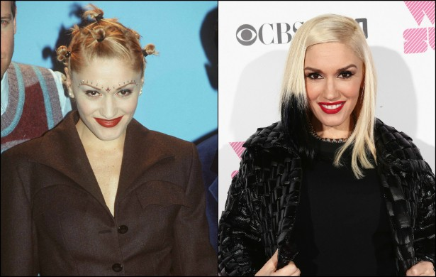 Gwen Stefani é um caso que deveria ser estudado pela ciência. A vocalista do No Doubt parece ficar mais e mais bela a cada ano que passa. Veja que diferença de 1997, quando a popstar tinha 28 anos, para os dias de hoje, em que ela tem 45. (Foto: Getty Images)
