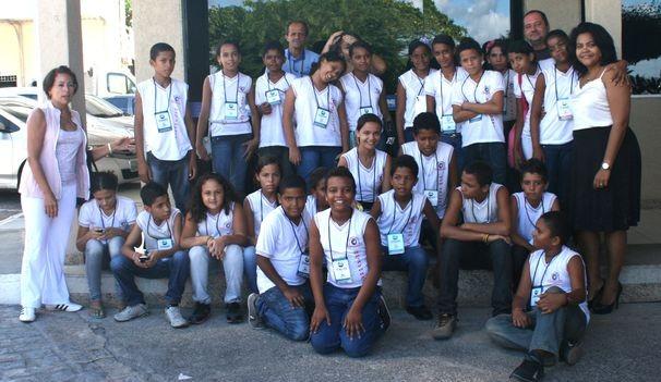 Alunos participam do Projeto Visitação da TV Sergipe (Foto: TV Sergipe / Divulgação)