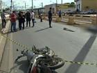 Vídeo mostra colisão de adolescente com bloco de concreto em obra de MT
