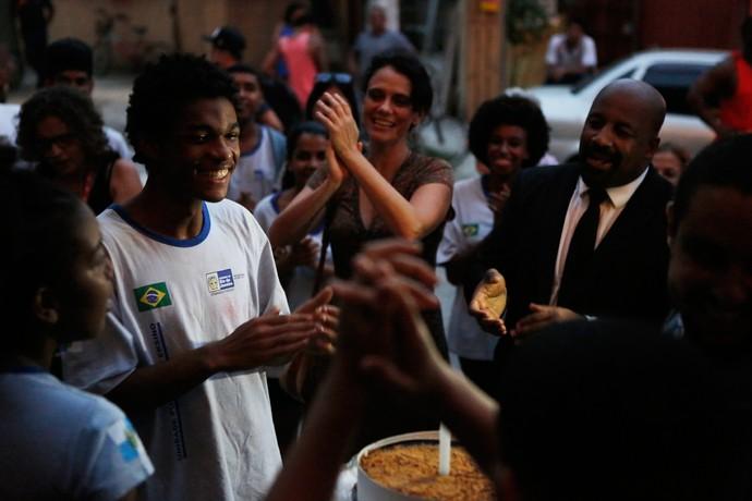 Juan ganhou surpresa após gravar cenas cruciais para Wesley (Foto: Pedro Carrilho / TV Globo)