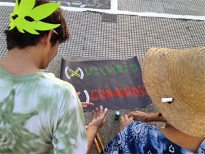 Coletivo defende a liberdade de expressão (Foto: Walter Paparazzo/G1)