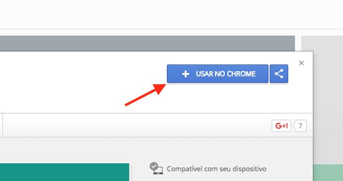 Opção para preparar o download do WhatsApp Locker para o Google Chrome (Foto: Reprodução/Marvin Costa)
