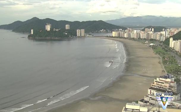 Imagens aéreas das praias da região (Foto: Reprodução/TV Tribuna)