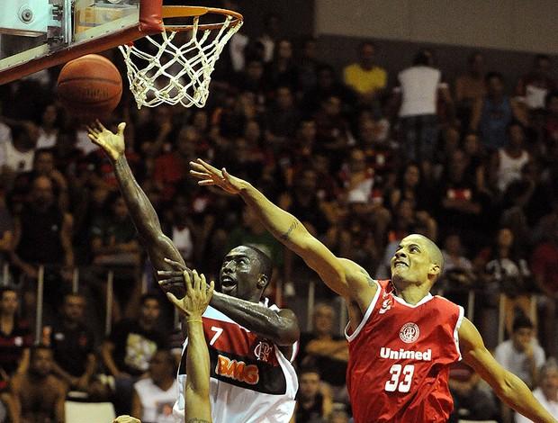 Flamengo basquete contra o Paulistano NBB (Foto: Alexandre Vidal / Fla Imagem)