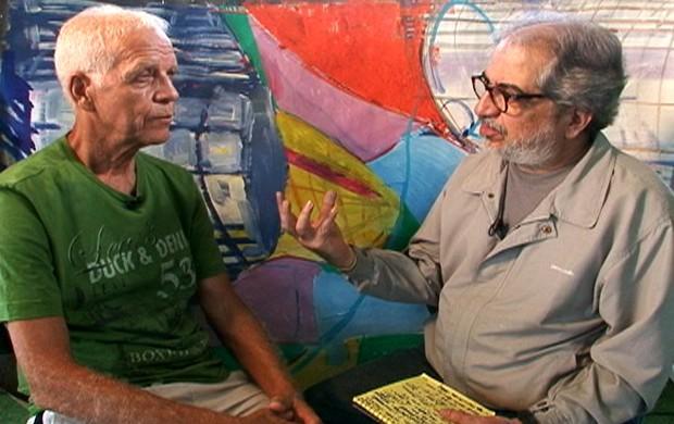 Ademir da Guia com Geneton (Foto: Reprodução/TV Globo)