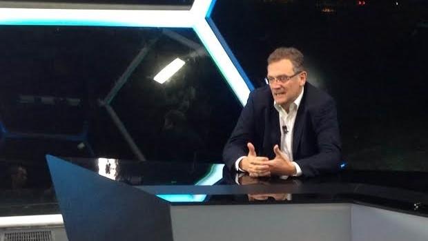 Jérôme Valcke, secretário-geral da Fifa, no Seleção SporTV (Foto: José Geraldo)