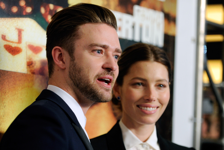 Antes de terem se casado, Justin teve que enfrentar algumas alegações de que ele havia traído Jessica com a atriz de 'The Newsroom' Olivia Munn. Timberlake e Biel uniram laços em 2012. (Foto: Getty Images)