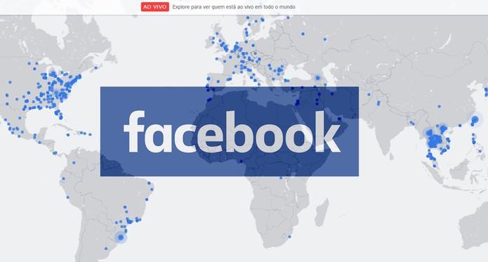 Acesse o Mapa ao vivo de transmissões no Facebook pelo PC (Foto: Reprodução/Barbara Mannara)