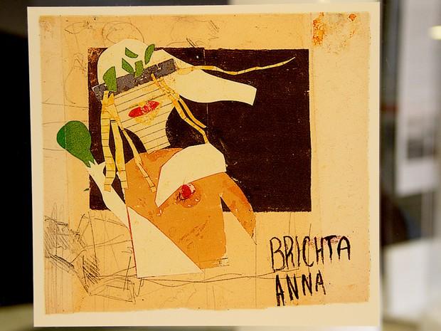 """Desenho em exposição na mostra """"As meninas do quarto 28"""", no Museu Nacional da República, em Brasília (Foto: Vianey Bentes/TV Globo)"""