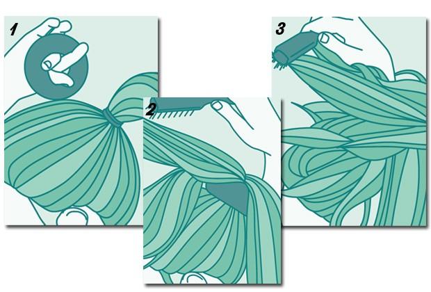Veja como fazer o coque alto desalinhado (Foto: Peters e Zabransky)
