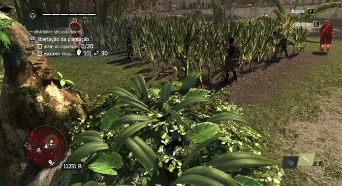 Utilize plantas e arbustos para matar furtivamente os capatazes (Foto: Reprodução/Paulo Vasconcellos)