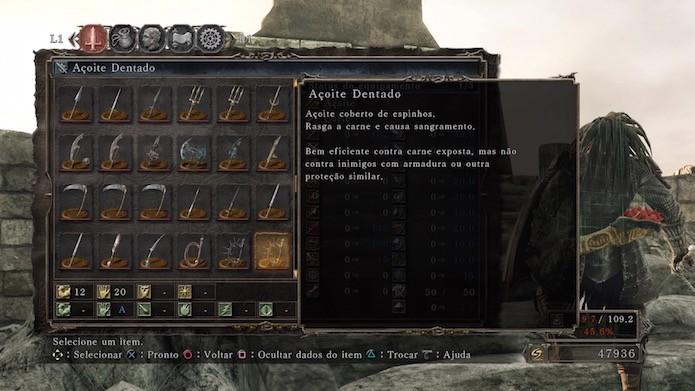 Dark Souls 2: Scholar of the First Sin: Açoite Dentado (Foto: Reprodução/Victor Teixeira)