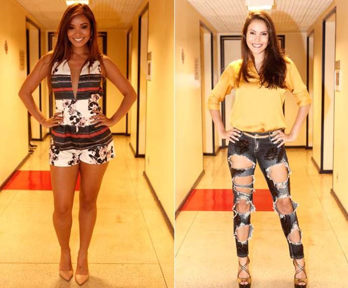 Carol Nakamura e Ana Carolina Dias optam por looks cheios de estilo (Foto: Inácio Moraes/ Gshow)