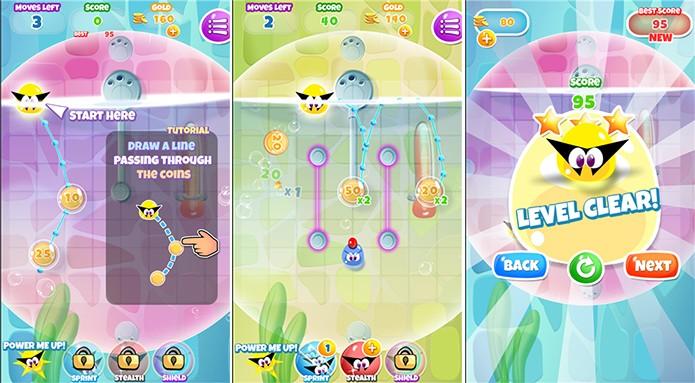 Aqua Thief é um game no qual usuário deve ajudar um pequeno ladrãozinho a escapar da polícia (Foto: Divulgação/Windows Phone Store)
