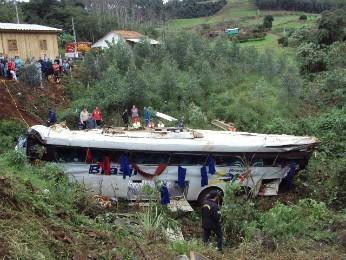 Grupo seguia de Foz do Iguaçu (PR) para encontro religioso em Santa Rosa (RS) (Foto: Polícia Militar Rodoviária / Divulgação)
