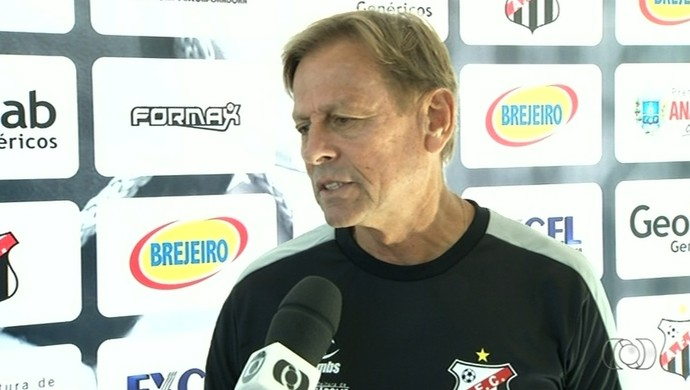 Waldemar Lemos - técnico do Anápolis (Foto: Reprodução / TV Anhanguera)