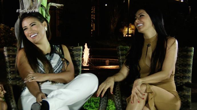 Simone & Simaria contam um pouco sobre a carreira (Foto: Produção / Se Liga VM)