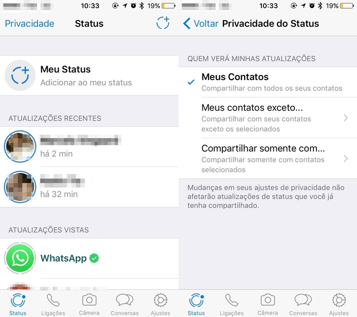 Como Configurar A Privacidade Do Status Do Whatsapp Dicas