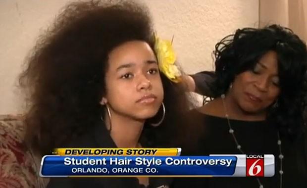 Vanessa VanDyke foi ameaçada de expulsão em escola de Orlando por causa de seu cabelo (Foto: Reprodução/YouTube/RippDemUp TV)