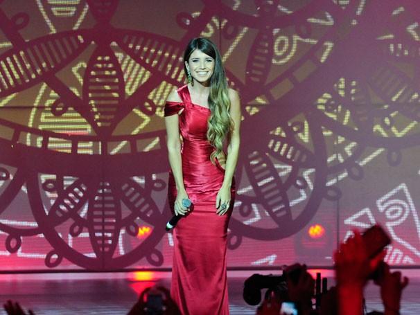 Paula Fernandes no show da esperança (Foto: Globo/Estevam Avelar)