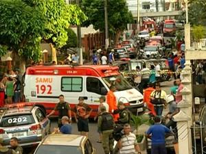 Moradores ficaram assustados com a ação criminosa no residencial Olimpus, em Belém Umarizal, Municipalidade assassinato assaltante em fuga (Foto: Reprodução/TV Liberal)
