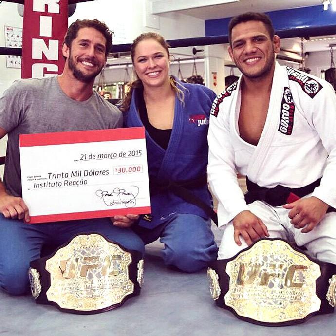 Flavio Canto, Ronda Rousey e Rafael Dos anjos