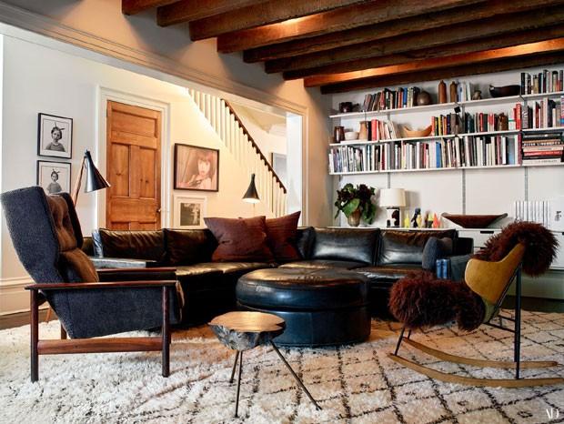 A sala da atriz Julianne Moore (Foto: Reprodução Architectural Digest)