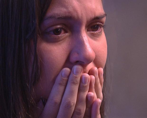 Tamires deixa a casa do BBB15 (Foto: TV Globo)