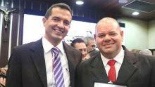 Jornalistas da Inter TV Cabugi e do G1 recebem homenagem na ALRN (Elias Medeiros/G1)
